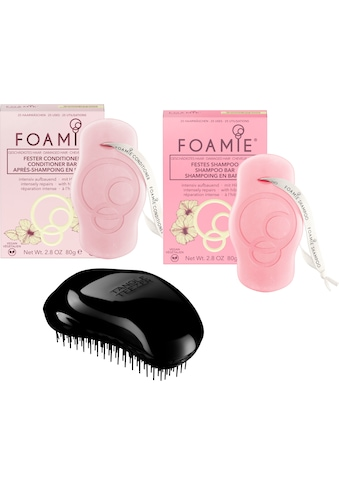TANGLE TEEZER Haarbürsten-Set »Tangle Teezer OR Black + Foamie festes Shampoo + Foamie... kaufen