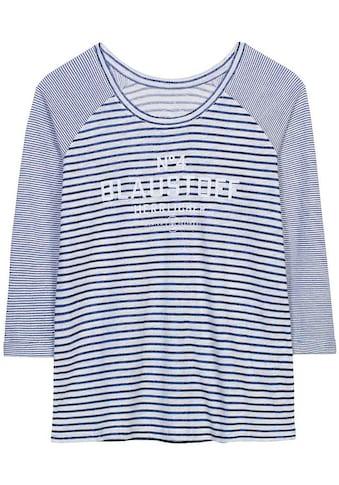 Herrlicher Rundhalsshirt »ANGELIKA«, Streifenoptik trifft auf... kaufen