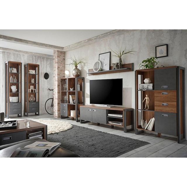 Home affaire Wohnwand »Detroit Set 2« (Set, 4-tlg)