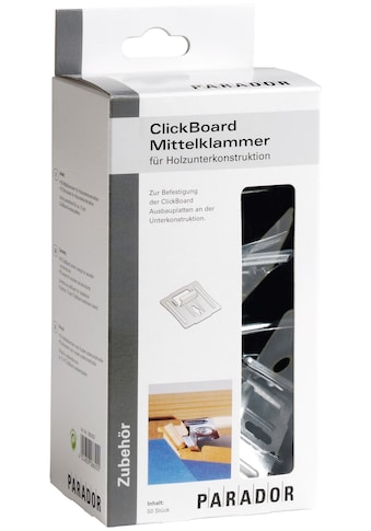 PARADOR Mittelklammer »ClickBoard«, 50 Stk., inkl. 50 Holzschrauben kaufen