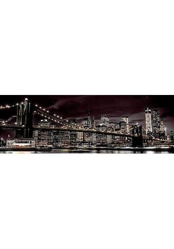 Reinders! Deco-Panel »New York bei Nacht«, 156/52 cm kaufen
