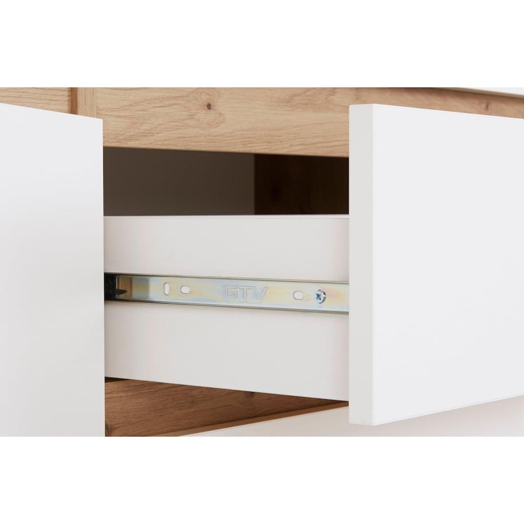 Homexperts Sideboard »Vicky«, Breite 160 cm oder 180 cm, in matt weiß