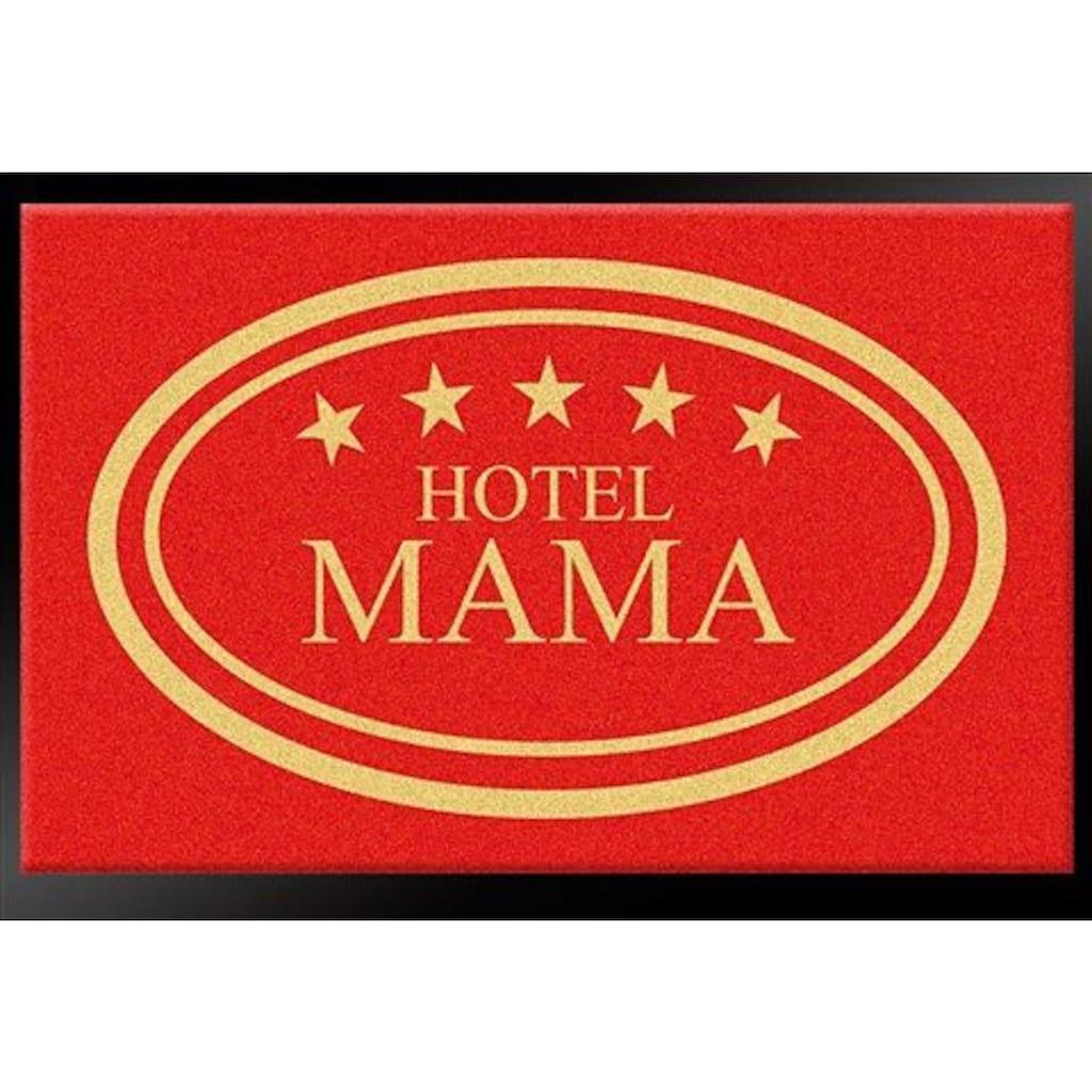 HANSE Home Fußmatte »Hotel Mama - 5 Sterne«, rechteckig, 8 mm Höhe, Schmutzfangmatte, mit Spruch