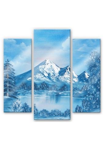 Wall-Art Mehrteilige Bilder »Alpsee in den Bergen (3-teilig)«, (Set, 3 St.) kaufen