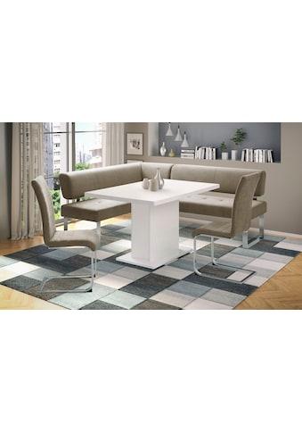 INOSIGN Eckbankgruppe »Aran«, (Set, 4 tlg.), Tisch, Breite 136 cm, Eckbank langer... kaufen