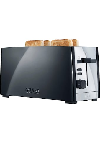 Graef Toaster »TO 102, schwarz - matt«, für 4 Scheiben, 1380 Watt kaufen