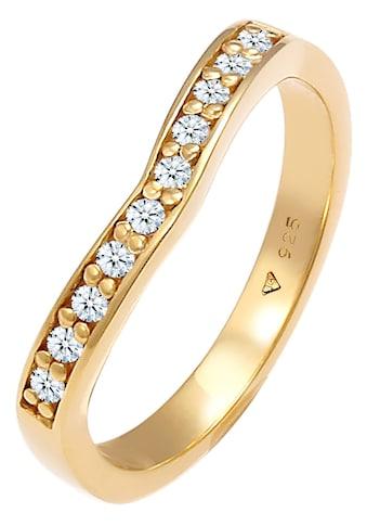 Elli DIAMONDS Fingerring »Elli DIAMONDS Ring Diamanten V-Form Verlobung, 0611512320,... kaufen