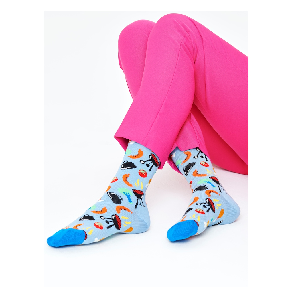 Happy Socks Socken »Barbecue«, mit farbigen Grill Motiven