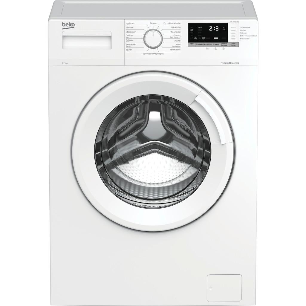BEKO Waschmaschine »WML91433NP1«, WML91433NP1, 9 kg, 1400 U/min