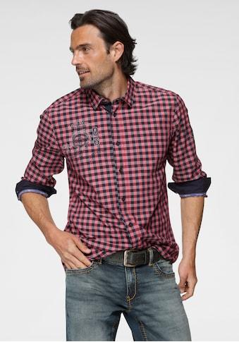 TOM TAILOR Polo Team Langarmhemd, mit Motivprint auf der Brust kaufen