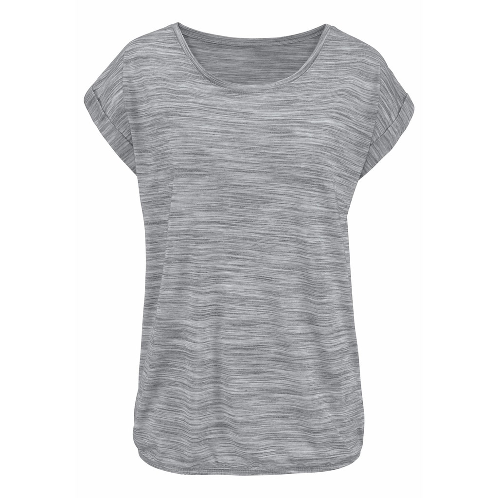 Beachtime T-Shirt, mit farbigem Struktureffekt
