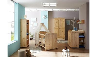 Ticaa Babyzimmer-Komplettset »Adam«, (Set, 5 tlg.), Bett + Wickelkommode + Schrank + Unterstellregal + Standregal kaufen