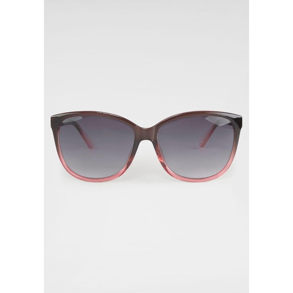 Sonnenbrille, Zweifarbig, Oversize-Form