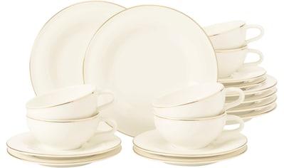 Seltmann Weiden Teeservice »Medina Goldlinie«, (Set, 18 tlg., 6 x Teeobertasse 0,14... kaufen