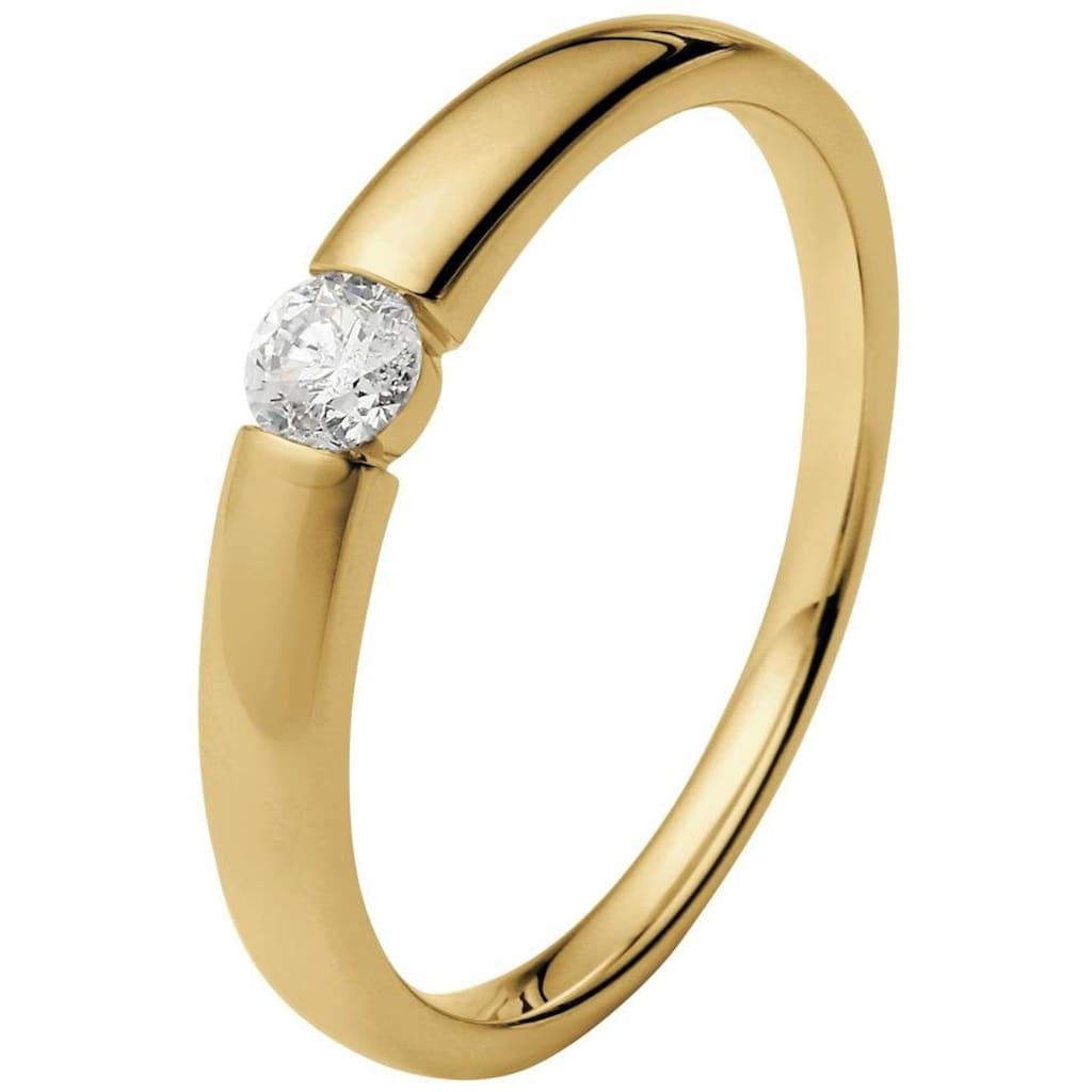 """Firetti Diamantring »Verlobungsring """"Solitär""""«, mit Brillant in Spannfassung"""