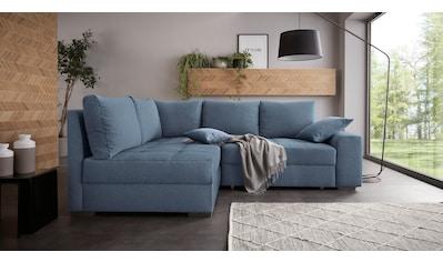 Nova Via Ecksofa »Quebec«, Inklusive Bettfunktion und 2 Bettkästen, wahlweise mit... kaufen