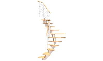 DOLLE Mittelholmtreppe »Frankfurt Birke 65«, bis 258 cm, Edelstahlgeländer, versch. Ausführungen kaufen