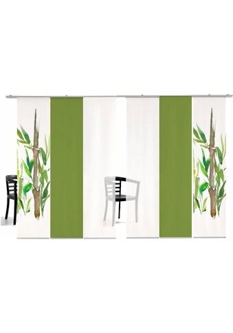 Schiebegardine, »Bambus SET«, emotion textiles, Klettband 6 Stück kaufen