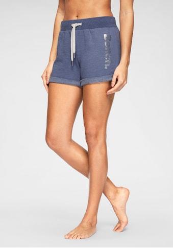 Bench. Shorts, mit Tapestreifen und Logodruck in Metalloptik kaufen