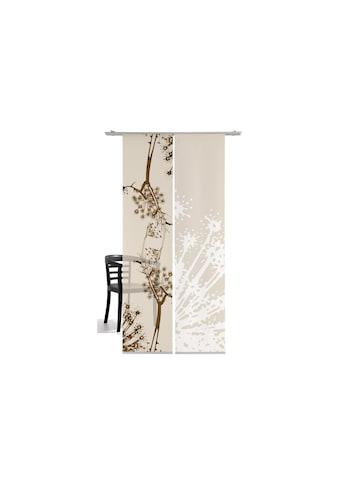Schiebegardine, »Fenchel«, emotion textiles, Klettband 2 Stück kaufen