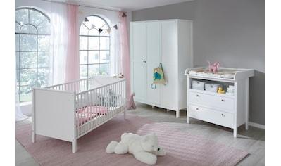 Babyzimmer-Komplettset »Westerland«, (Set, 3 St.), Bett + Wickelkommode + 3 trg. Schrank kaufen