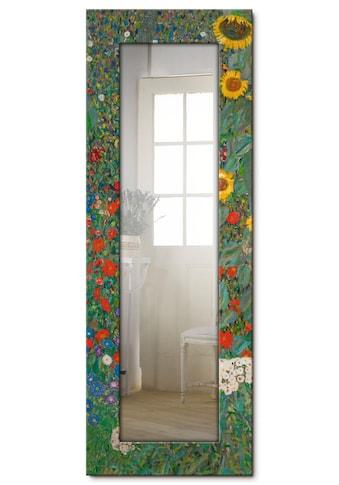 Artland Wandspiegel »Garten mit Sonnenblumen«, gerahmter Ganzkörperspiegel mit... kaufen