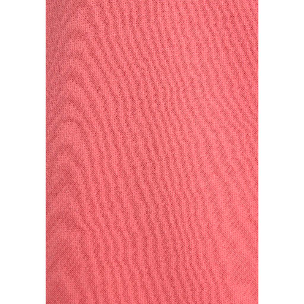 Bench. Kapuzensweatjacke, mit Kordelzug und Lederimitat-Details