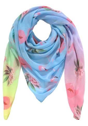 J.Jayz Modetuch, Farbverlauf, Flamingodruck kaufen
