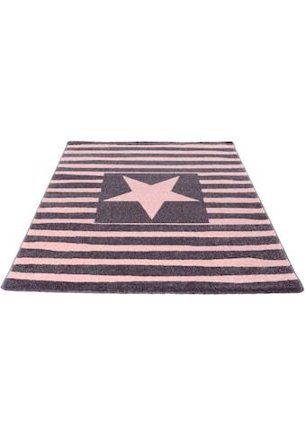 Living Line Kinderteppich »Star«, rechteckig, 12 mm Höhe, gestreift mit Stern Motiv kaufen