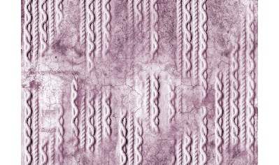 CONSALNET Vliestapete »Geflecht auf Beton/Rosa«, in verschiedenen Größen kaufen