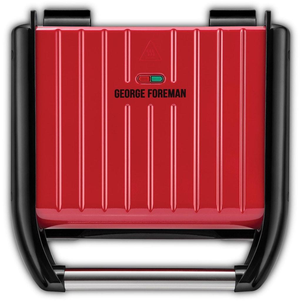 George Foreman Kontaktgrill Steel Familiy Fitnessgrill Rot 25040-56, 1650 Watt, 1650 Watt