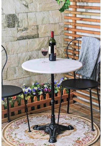 SIT Bistrotisch, mit Marmorplatte und hübschem Eisenfuß kaufen