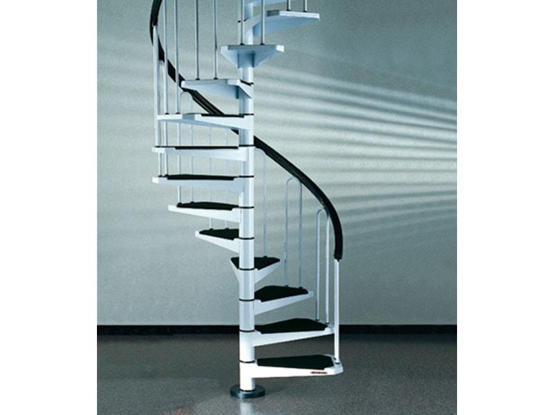 STARWOOD Spindeltreppe »AF26«, B: 120 cm, 12 Stufen, weiß | Baumarkt > Leitern und Treppen > Treppen | Weiß | Kunststoff - Stahl | STARWOOD
