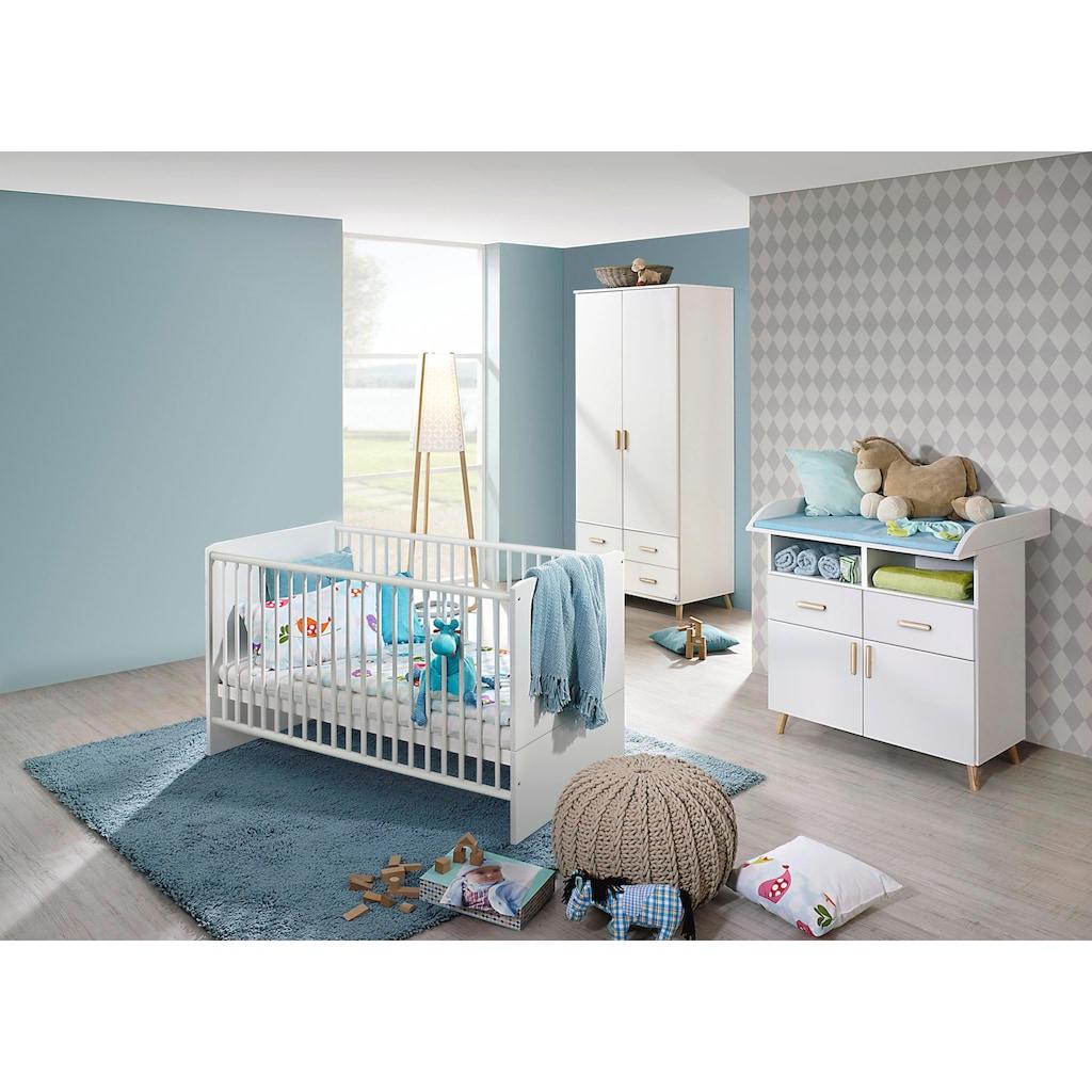 rauch ORANGE Babyzimmer-Komplettset »Potsdam«, (Set, 3 tlg.), Bett + Wickelkommode + 2 trg. Schrank
