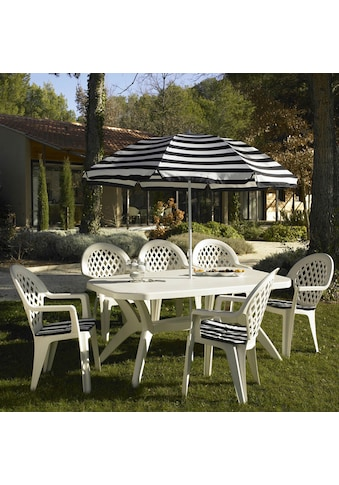 ONDIS24 Gartentisch »Ibiza«, BxTxH: 165 x 100 x 75 cm, weiß, Kunststoff, mit Justierfuß kaufen