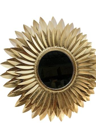 Home affaire Dekospiegel »Blumen gold«, Wanddeko kaufen