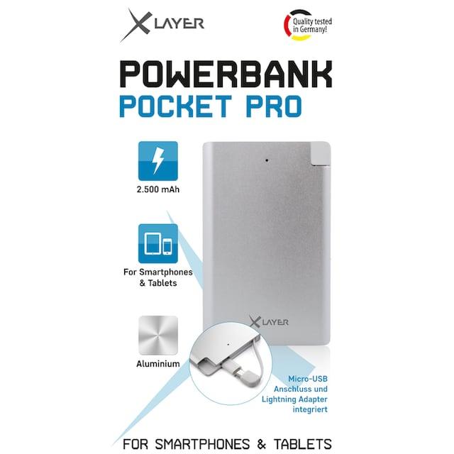 XLAYER Zusatzakku »Powerbank Pocket PRO Polymer Aluminium 2500mAh Sma«