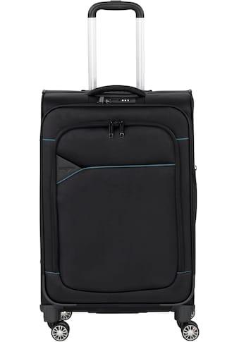 Hardware Weichgepäck-Trolley »SKYLINE 3000 M, black/petrol«, 4 Rollen kaufen