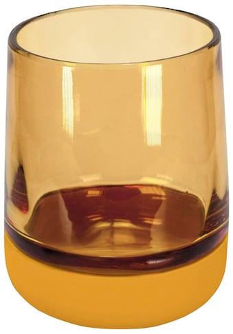 Kleine Wolke Zahnputzbecher »Belly«, hochwertige Accessoire Serie aus Glas mit Silikon... kaufen
