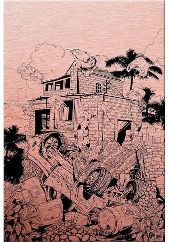 Wall-Art Alu-Dibond-Druck »Drawstore - Pickup«, 40/60 cm kaufen