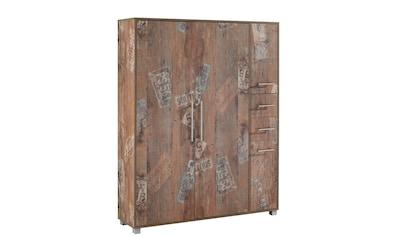 Schildmeyer Schuhschrank »Pisa«, Breite 132 cm, mit Metallgriffen kaufen