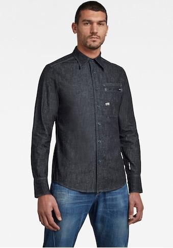 G-Star RAW Jeanshemd »Zip pkt slim shirt l\s« kaufen