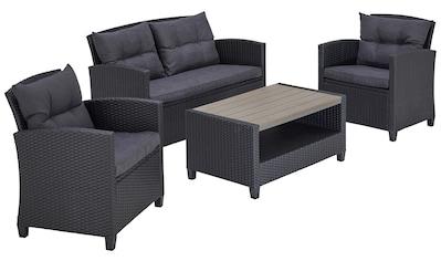 KONIFERA Gartenmöbelset »St. Tropez«, (11 tlg.), 2er Sofa, 2 Sessel, Tisch 90x55 cm,... kaufen