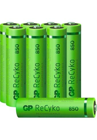 GP Batteries Akku »AAA Akku NiMH 850 mAh ReCyko 1,2V 8 Stück«, Micro, 850 mAh kaufen