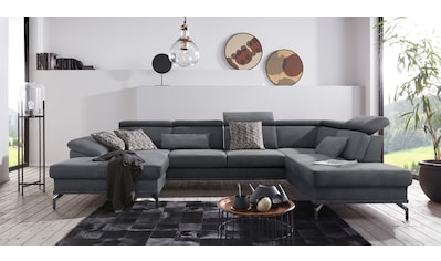 sit&more Wohnlandschaft, inklusive Sitztiefenverstellung, wahlweise mit Kopf- und... kaufen