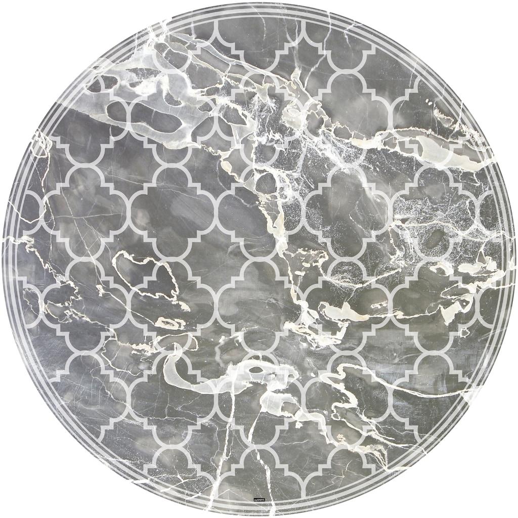MySpotti Vinylteppich »Buddy Richard«, rund, 0,03 mm Höhe, rund, wasserfest und statisch haftend