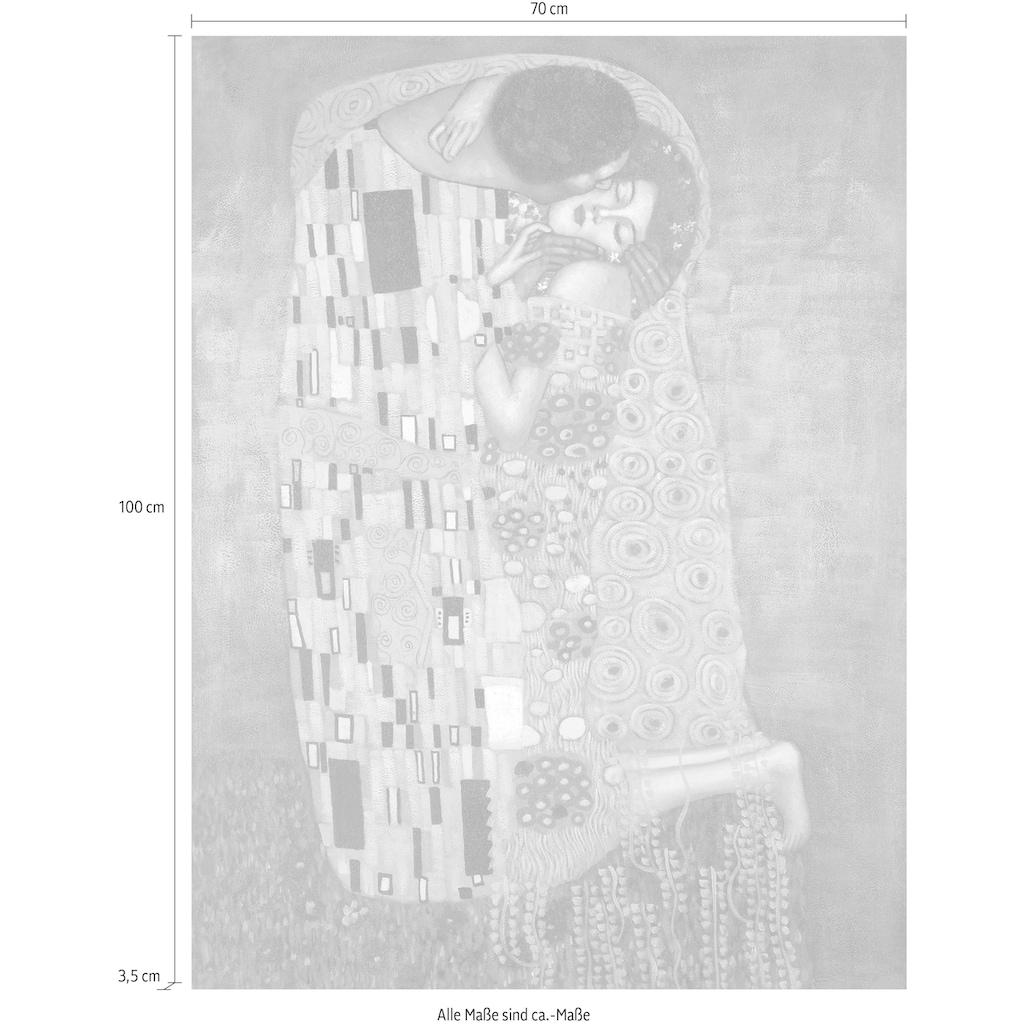 my home Kunstdruck »KLIMT / Der Kuss«, (auf Leinwand 70/3,5/100 cm)