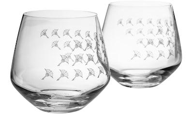 Joop! Tumbler-Glas »JOOP! FADED CORNFLOWER«, (Set, 2 tlg.), mit Kornblumen-Verlauf als... kaufen