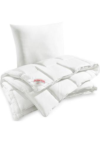 Schlaf-Gut Bettdecke + Kopfkissen »Utah«, (Spar-Set) kaufen