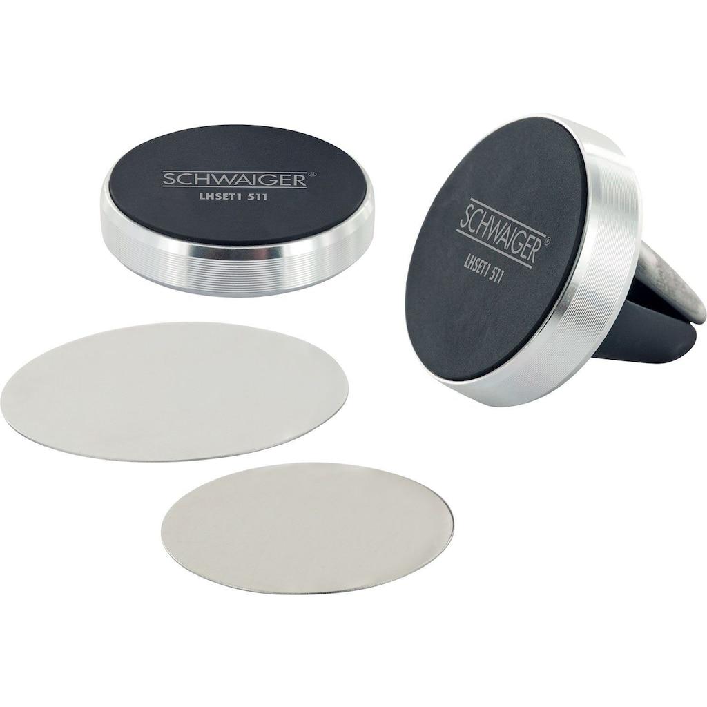 Schwaiger Universal Magnet KFZ Smartphone Halterung »für das Lüftungsgitter«